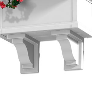 Yorkshire Window Box Decorative Brackets (2 Pack)
